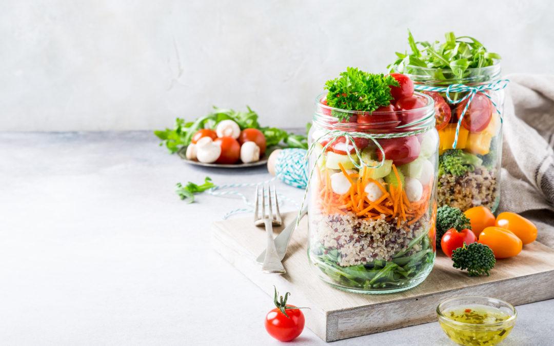 Salade en pot Mason